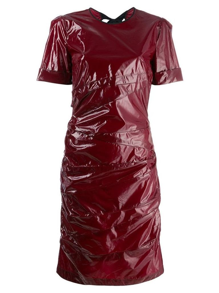 Nº21 vinyl T-shirt dress with bow on the back - Red