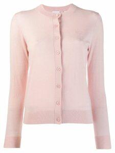 Burberry Monogram Motif Cashmere Cardigan - Pink