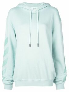 Off-White hooded sweatshirt - Blue