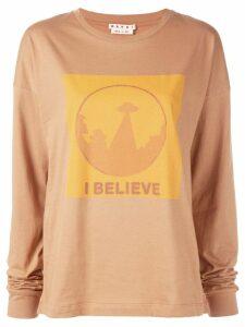 Marni 'I Believe' slogan sweatshirt - Brown