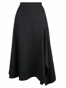 Rosetta Getty scarf hem skirt - Black