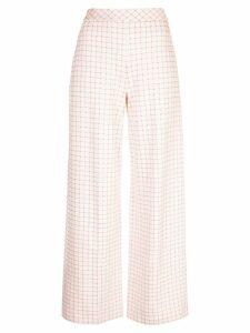 Rosetta Getty checked print trousers - White