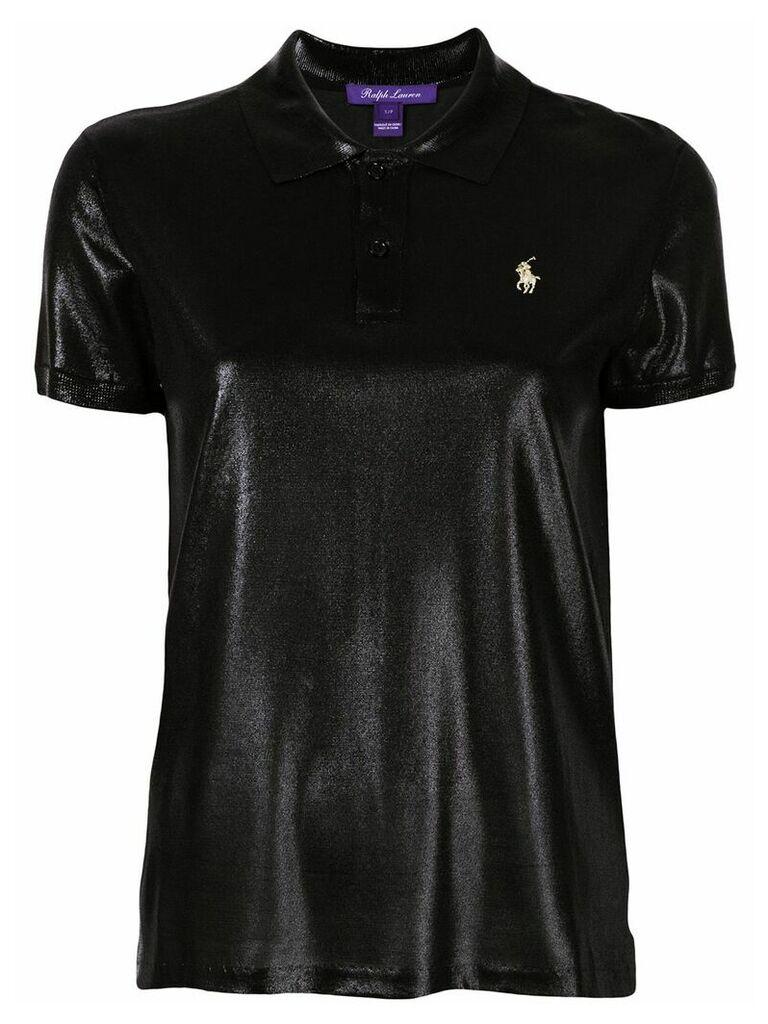 Ralph Lauren Collection high shine polo shirt - Black