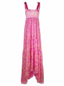 Silvia Tcherassi floral flared maxi dress - Pink
