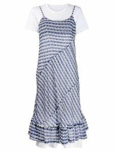 Comme Des Garçons triangle pattern panel dress - White