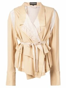 Ann Demeulemeester lightweight blazer with layers - Neutrals