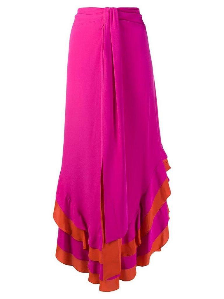Dvf Diane Von Furstenberg ruffled midi skirt - Pink