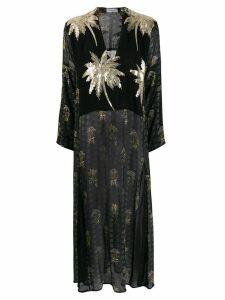 Ailanto palm tree maxi dress - Black
