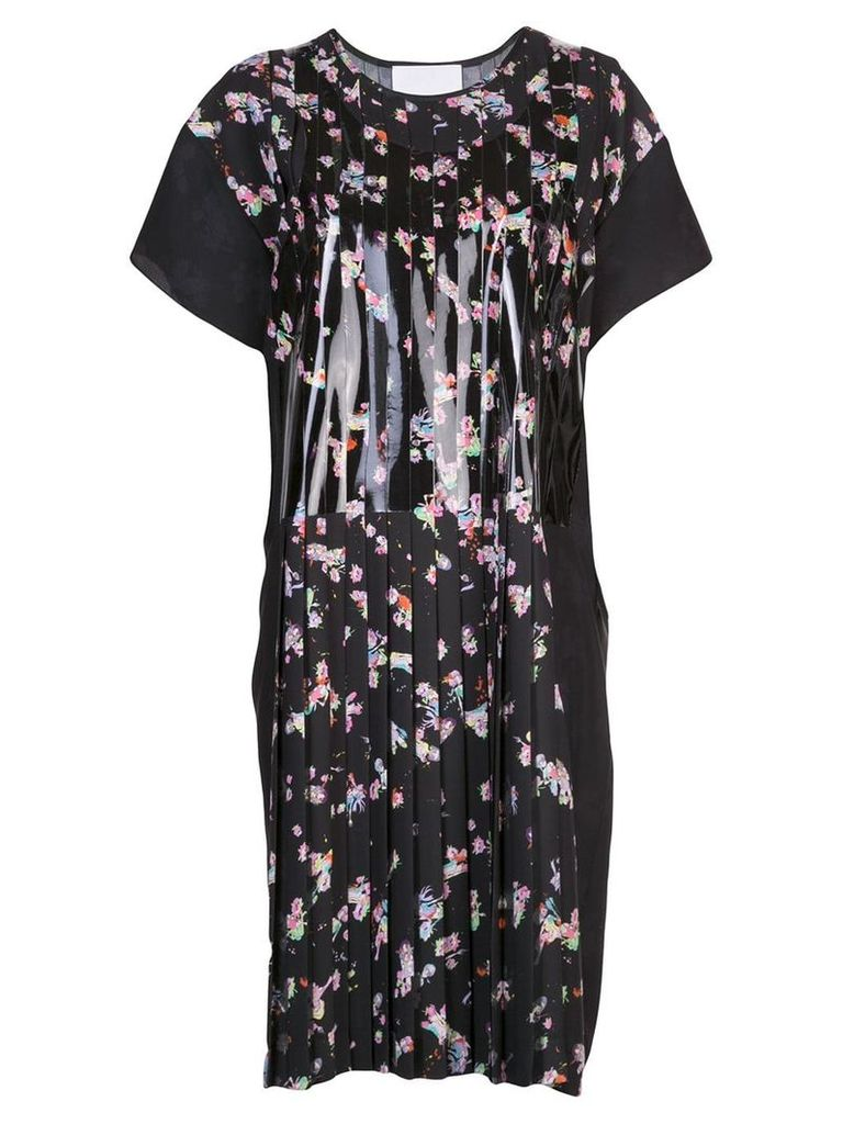 Maison Margiela floral pleated dress - Black
