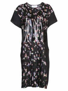 Maison Margiela floral pleated dress - Black