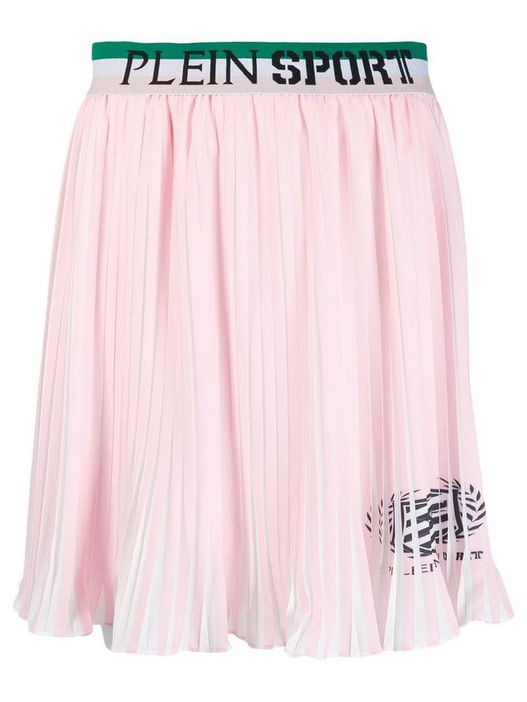 Plein Sport logo waistband pleated skirt - Pink