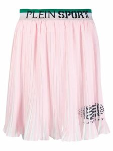 Plein Sport logo waistband pleated skirt - Pink