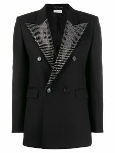 Saint Laurent embellished lapel blazer - Black