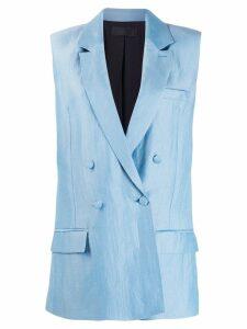 Haider Ackermann double-breasted sleeveless blazer - Blue
