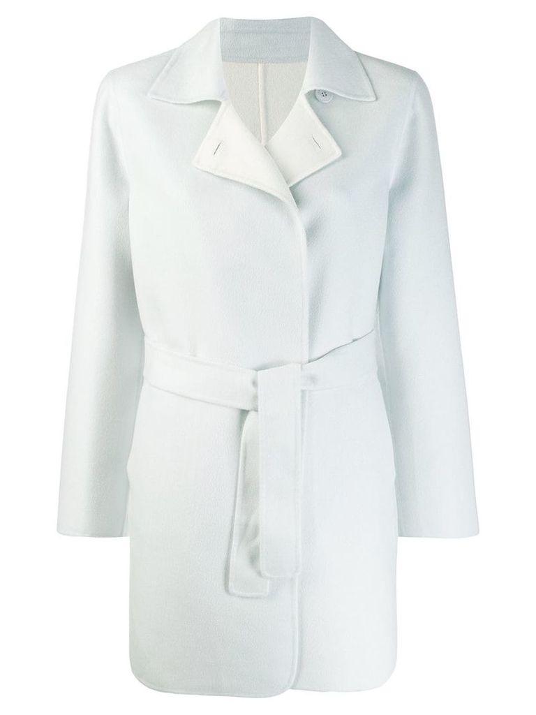 Loro Piana wrap style coat - Blue