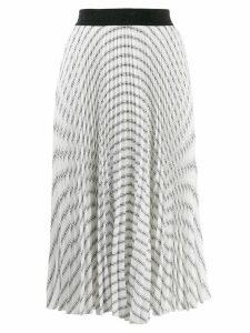 Karl Lagerfeld logo motif skirt - White