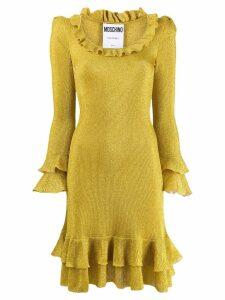 Moschino shimmer ruffle dress - Yellow