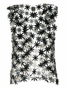 Paco Rabanne flower waistcoat - Black