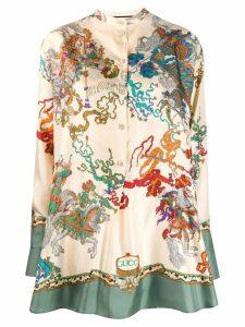 Gucci printed blouse - Neutrals