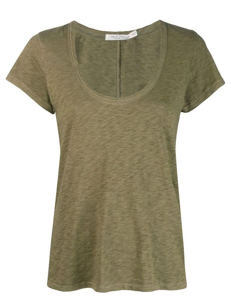 Rag & Bone classic u-neck T-shirt - Green