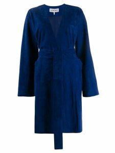 Loewe belted coat - Blue
