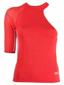 Adidas one sleeved jersey top - Orange