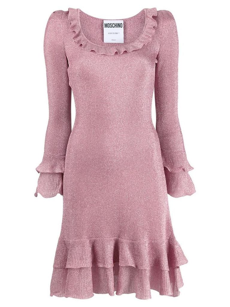 Moschino ruffle shimmer dress - Pink