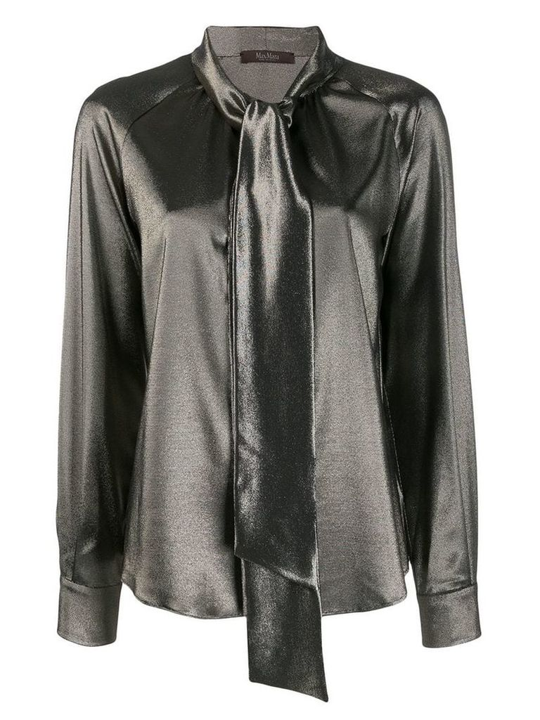 Max Mara tie collar shirt - Gold