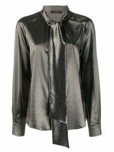 Max Mara tie collar shirt - Gold