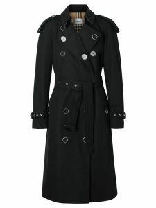 Burberry Kensington Heritage Trench Coat - Black