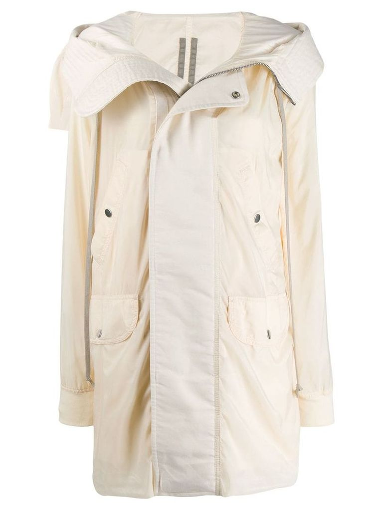 Rick Owens DRKSHDW open collar rain coat - Neutrals