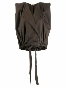 Lemaire sleeveless blazer jacket - Brown