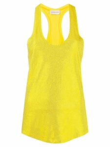 Alexandre Vauthier embellished tank top - Yellow