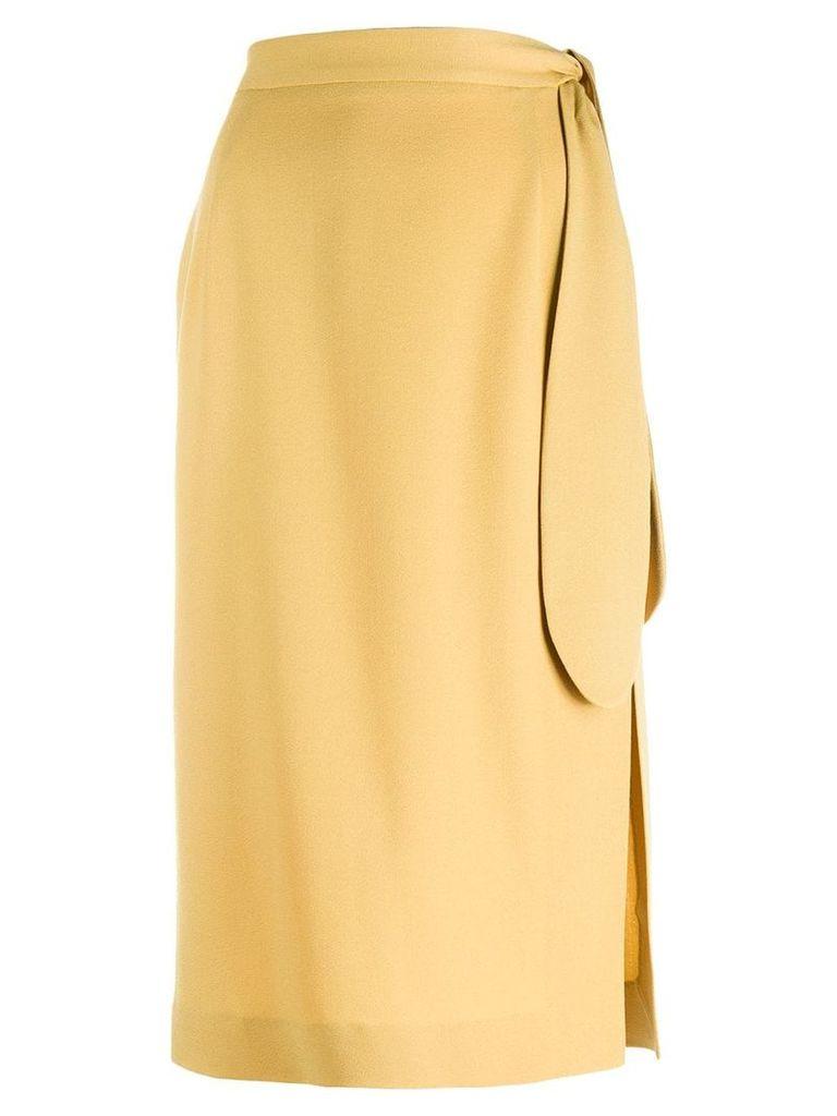 Alexa Chung plain wrap skirt - Yellow