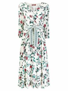 Max Mara Studio floral print wrap-around dress - White