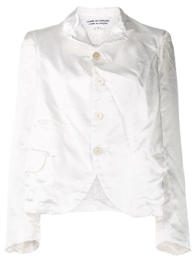 Comme Des Garçons Comme Des Garçons crinkle effect blazer - White
