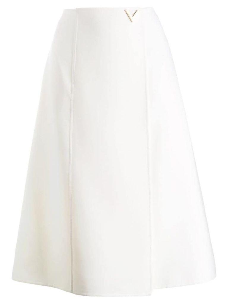 Valentino A-line logo skirt - White