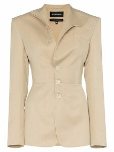 Situationist mandarin lapel blazer - NEUTRALS