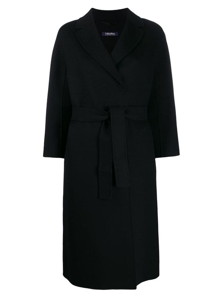 'S Max Mara belted duster coat - Black