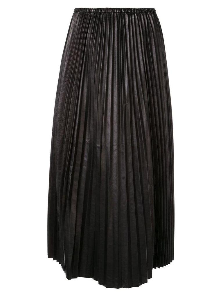 Valentino pleated leather skirt - Black