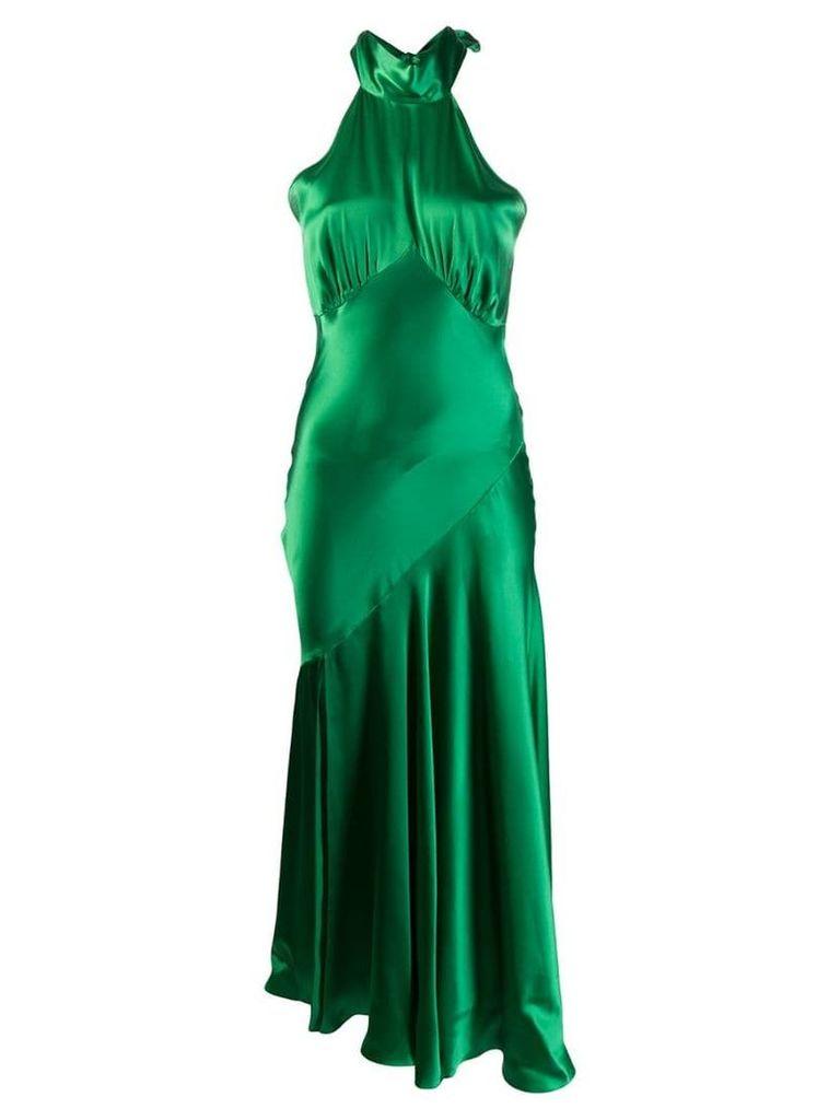 De La Vali bow halter dress - Red
