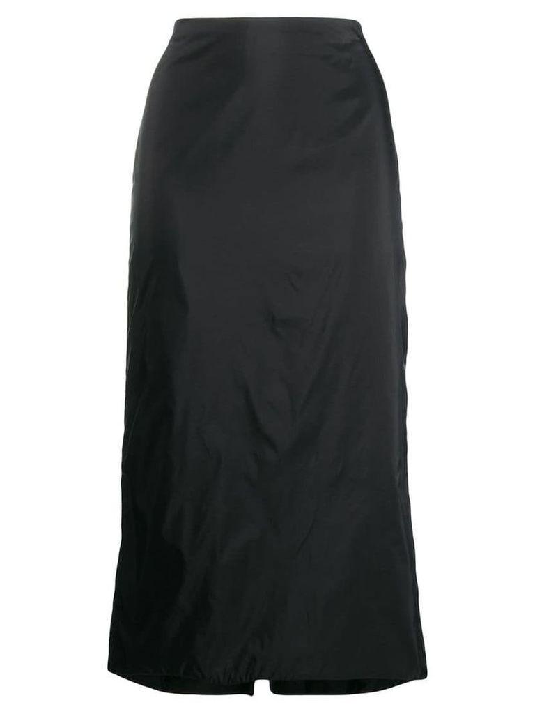 Olivier Theyskens fitted midi skirt - Black