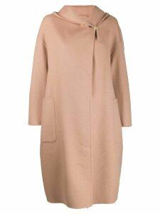 Max Mara hooded coat - NEUTRALS