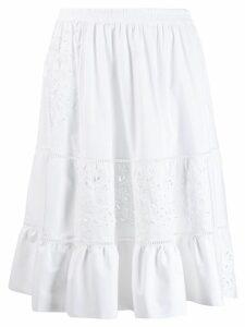 Ermanno Scervino floral detail skirt - White