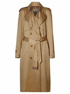 Burberry Silk Wrap Trench Coat - Neutrals