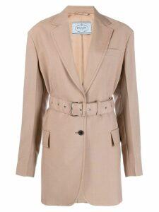 Prada belted blazer - Neutrals