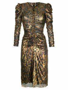 Isabel Marant Damia midi dress - Metallic