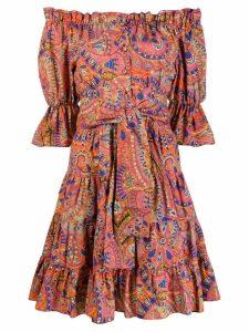 Etro off the shoulder dress - Orange