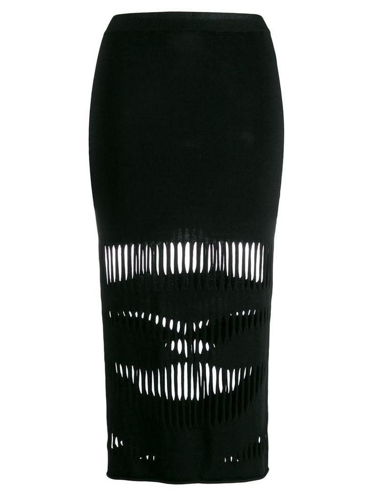 Ports 1961 cut-out midi skirt - Black