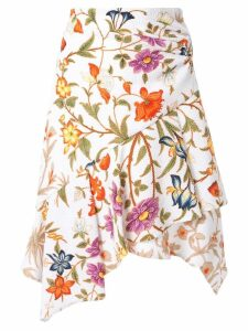 Peter Pilotto asymmetric floral print skirt - Multicolour